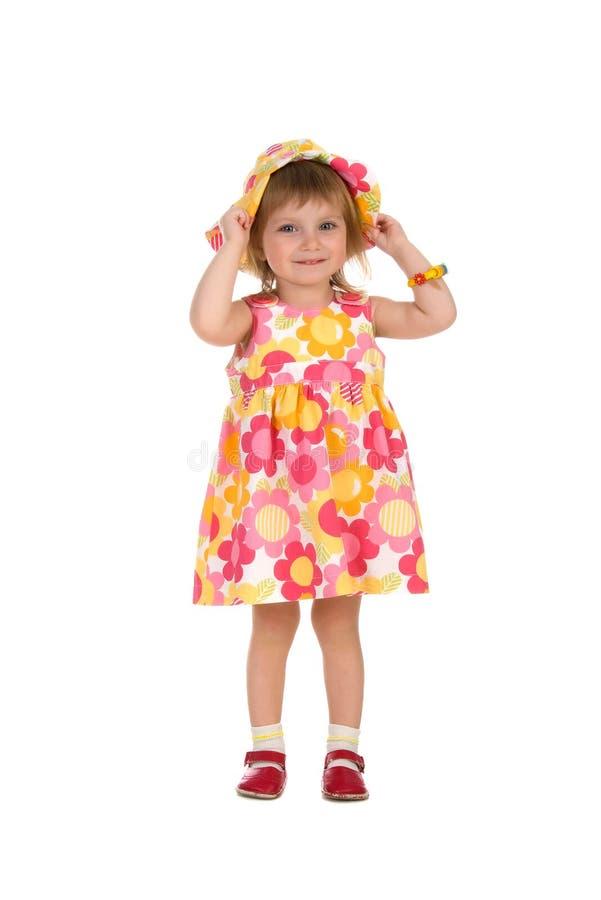 милая девушка платья меньшее лето стоковые фотографии rf