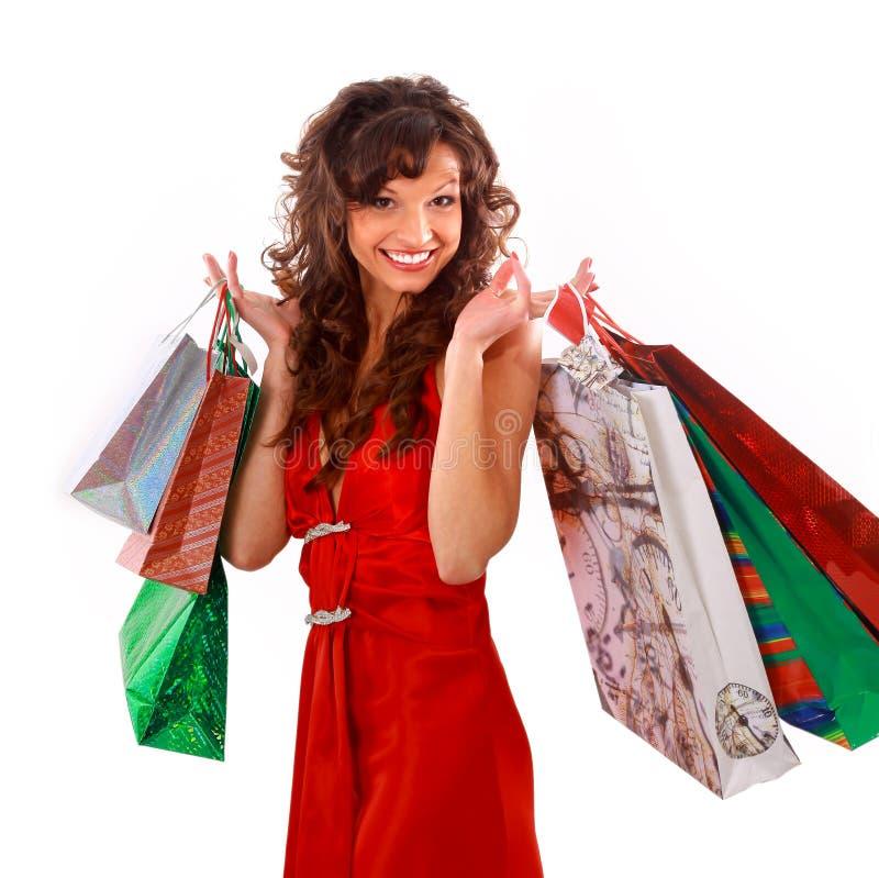 милая женщина покупкы стоковая фотография rf