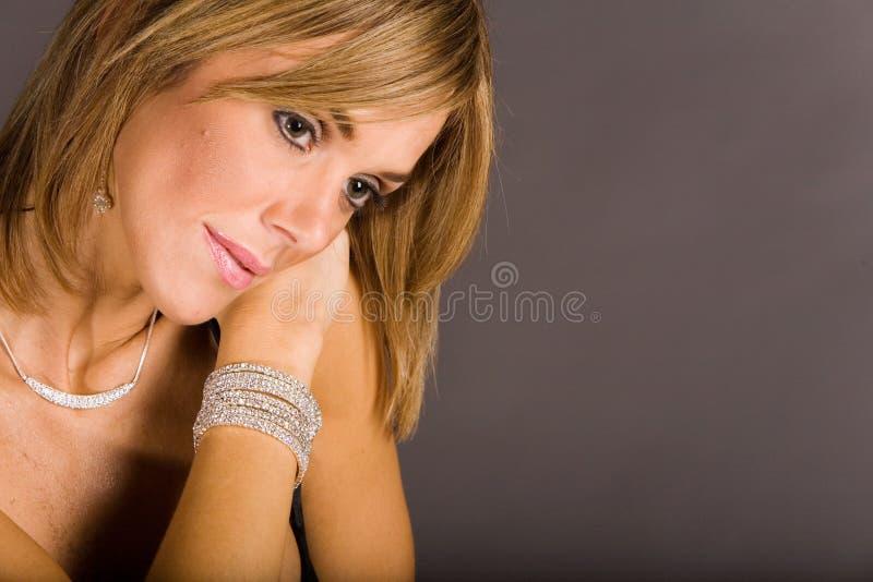 милая женщина стоковое изображение rf