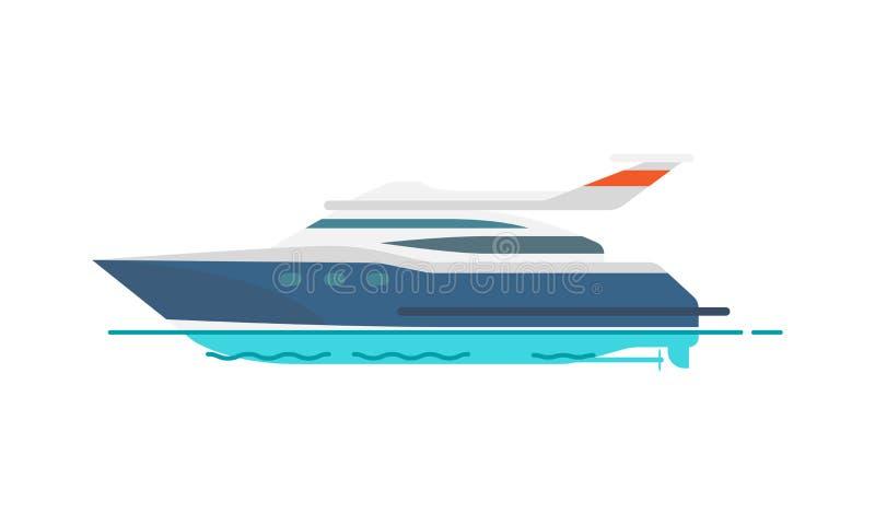 Милая картина иллюстрации вектора яхты скорости иллюстрация штока