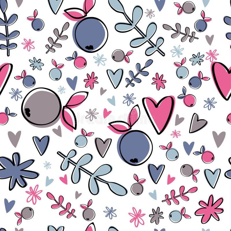 Милая картина ягоды Красочная простая предпосылка бесплатная иллюстрация