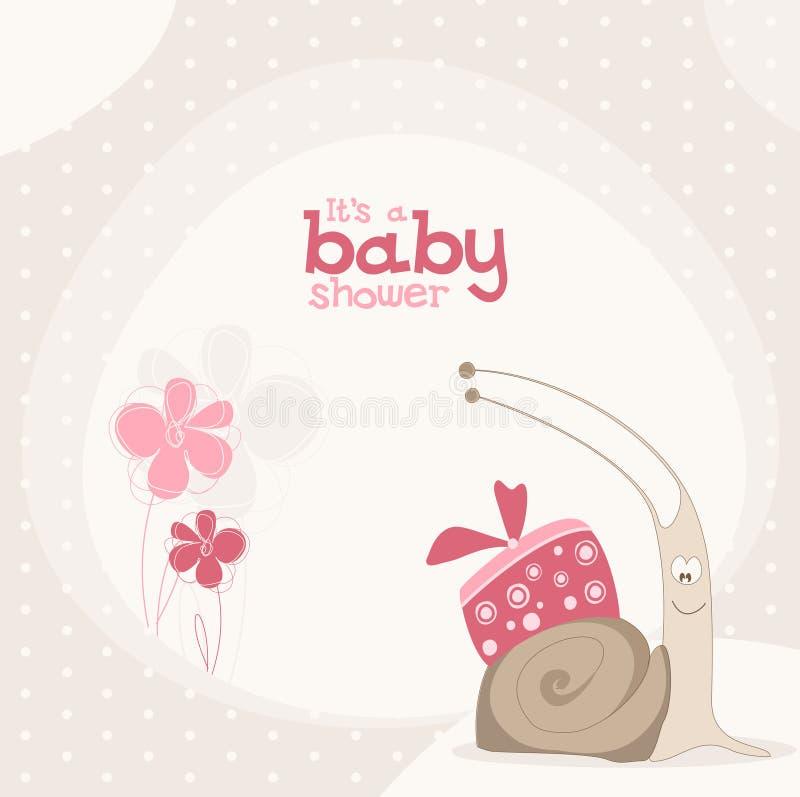 Милая конструкция ливня младенца. иллюстрация штока