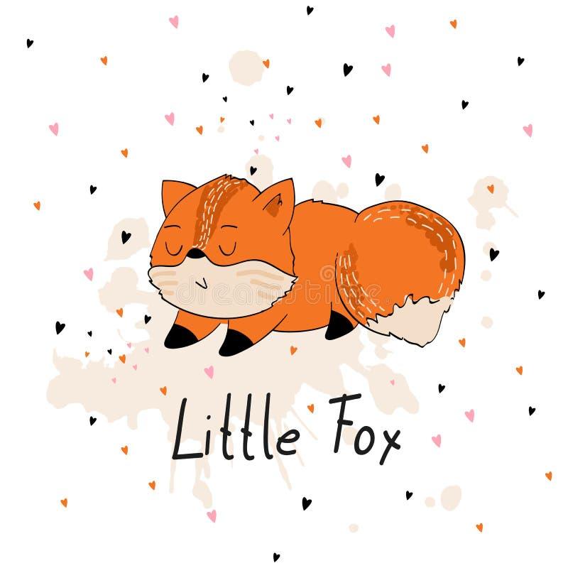 Милая лисица шаржа бесплатная иллюстрация