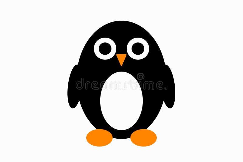 Милая маленькая иллюстрация пингвина иллюстрация штока