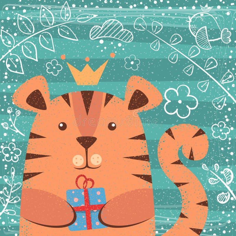 Милая маленькая принцесса - персонажи из мультфильма иллюстрация штока