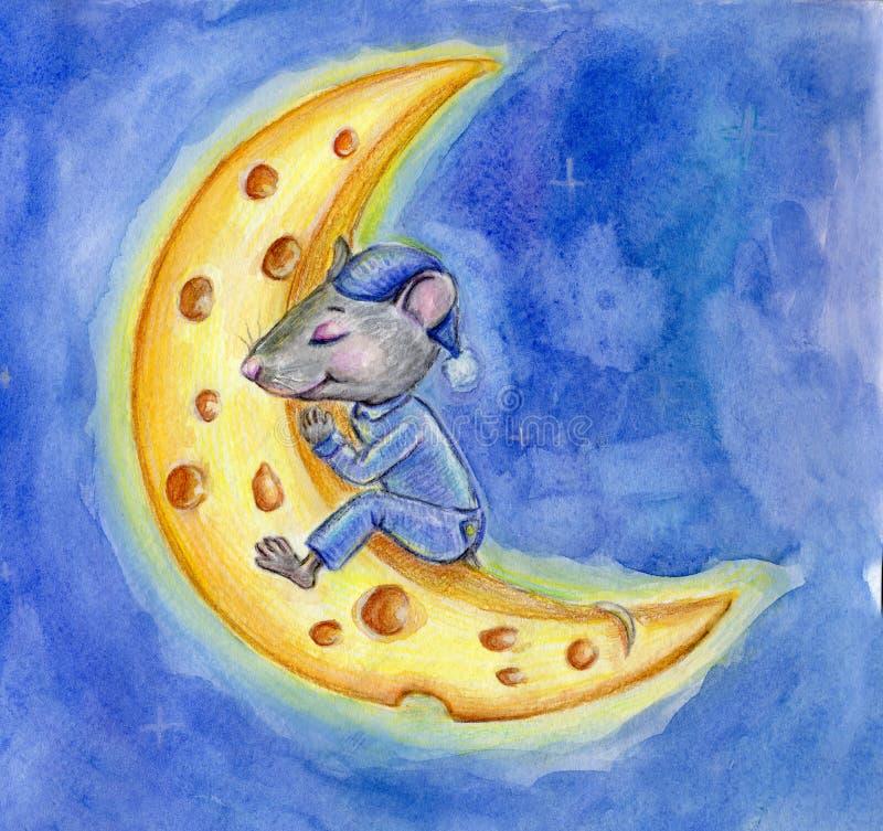 девочка мышь на луне рисунок принимают просторном светлом