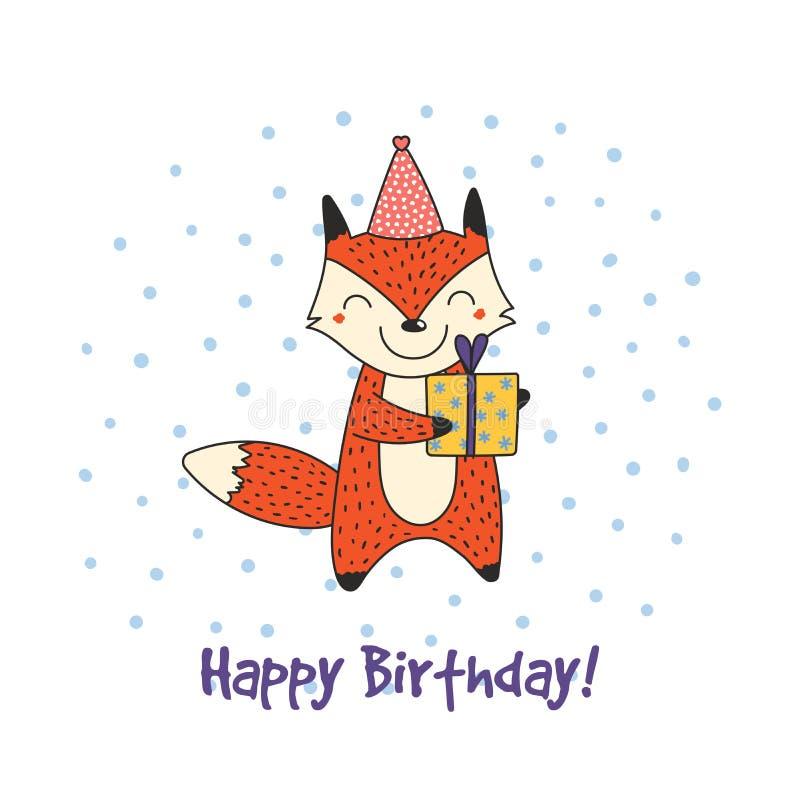 Днем, с днем рождения лиса открытка