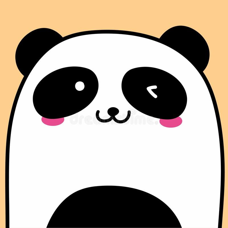 Милая предпосылка вектора панды бесплатная иллюстрация