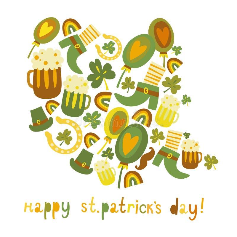 Милая предпосылка дня цветастого St. Patrick бесплатная иллюстрация