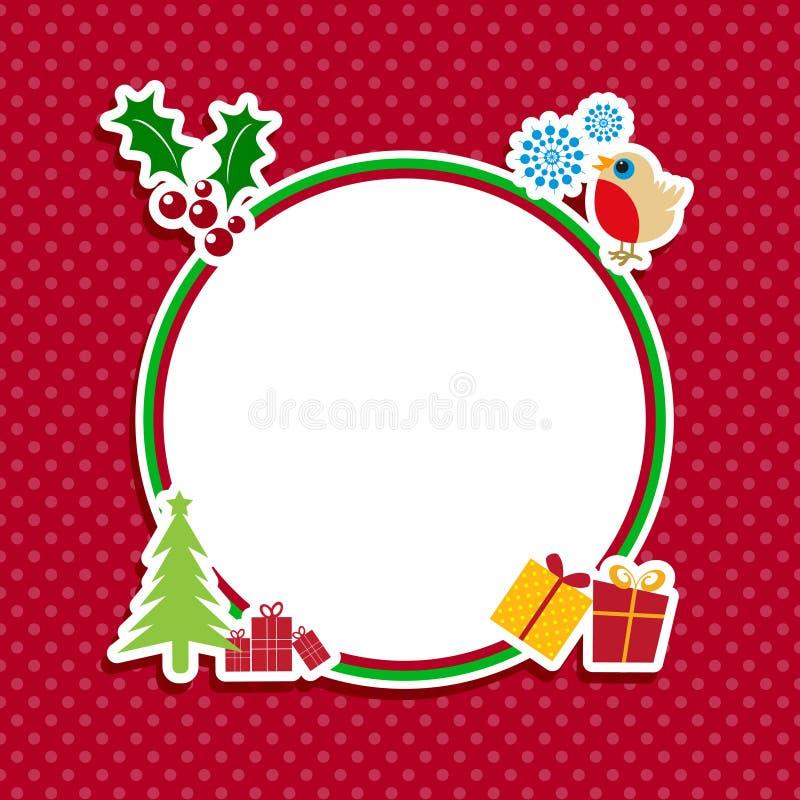 Милая предпосылка рождества иллюстрация штока