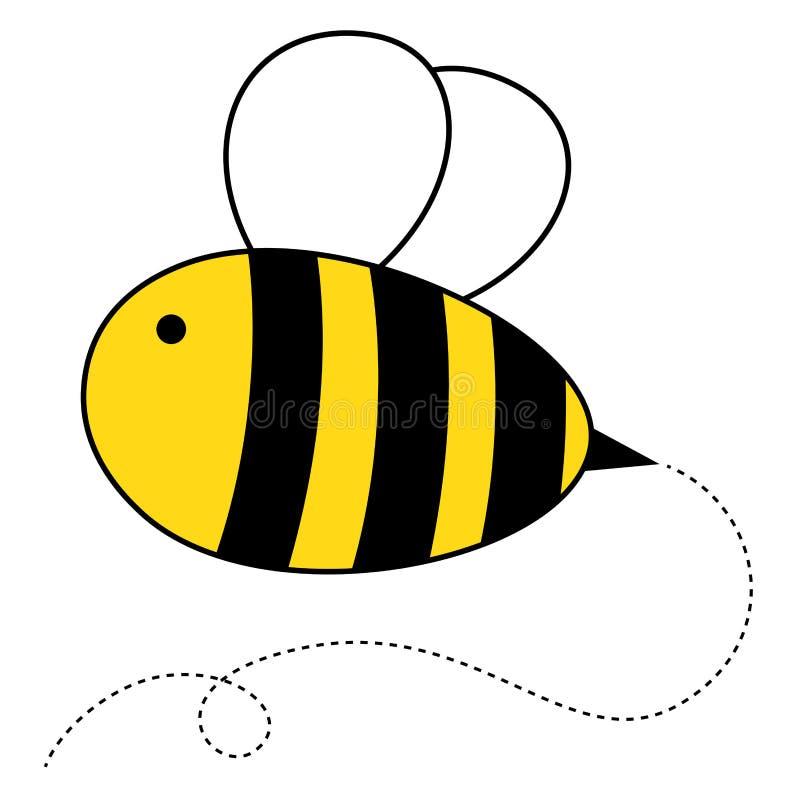 Милая пчела меда шаржа иллюстрация штока