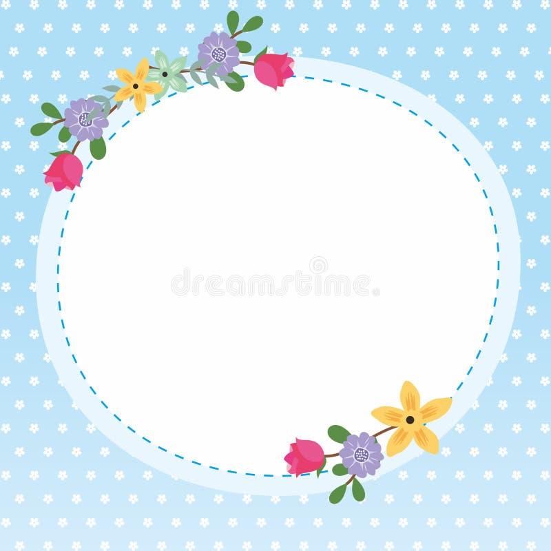 Милая рамка/граница с орнаментом стоковое фото