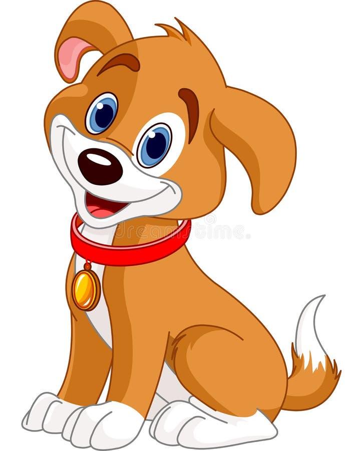 милая собака иллюстрация штока
