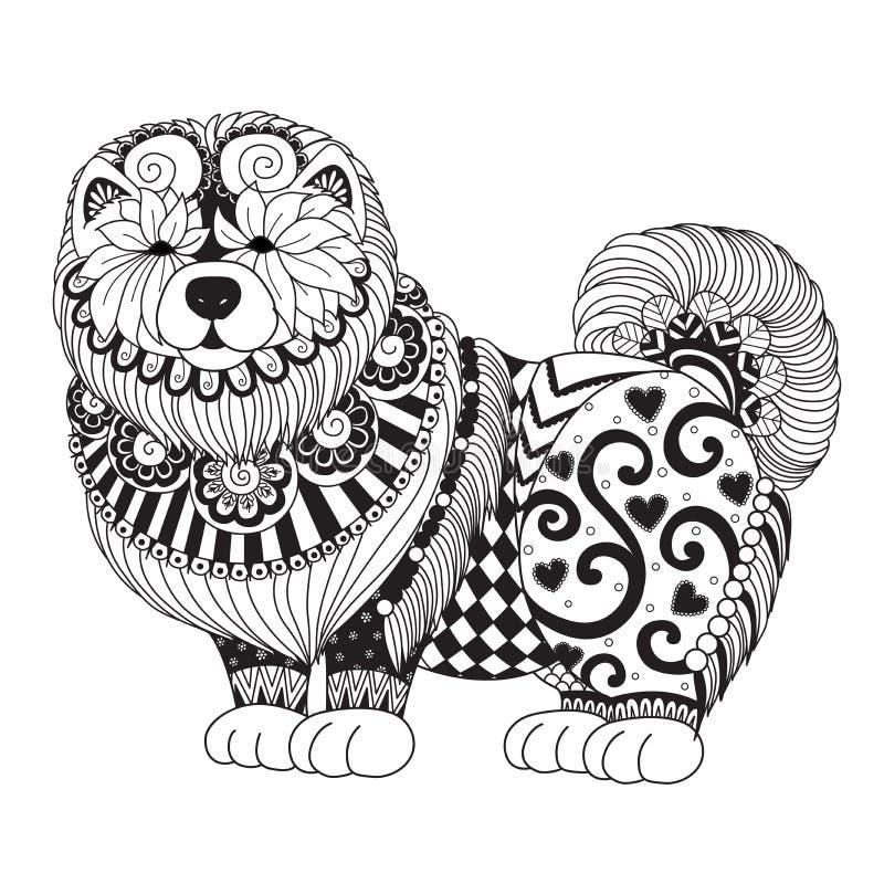 Милая собака Chao Chao для элемента дизайна и страницы ...