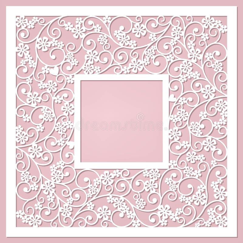 Милая услышанная карточка с цветками и иллюстрация штока