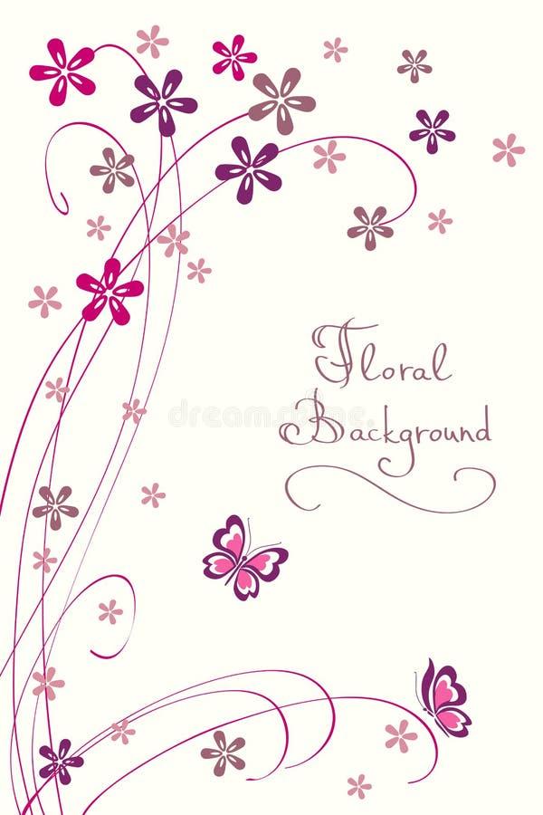 Милая флористическая предпосылка. Самомоднейшая карточка вектора иллюстрация штока