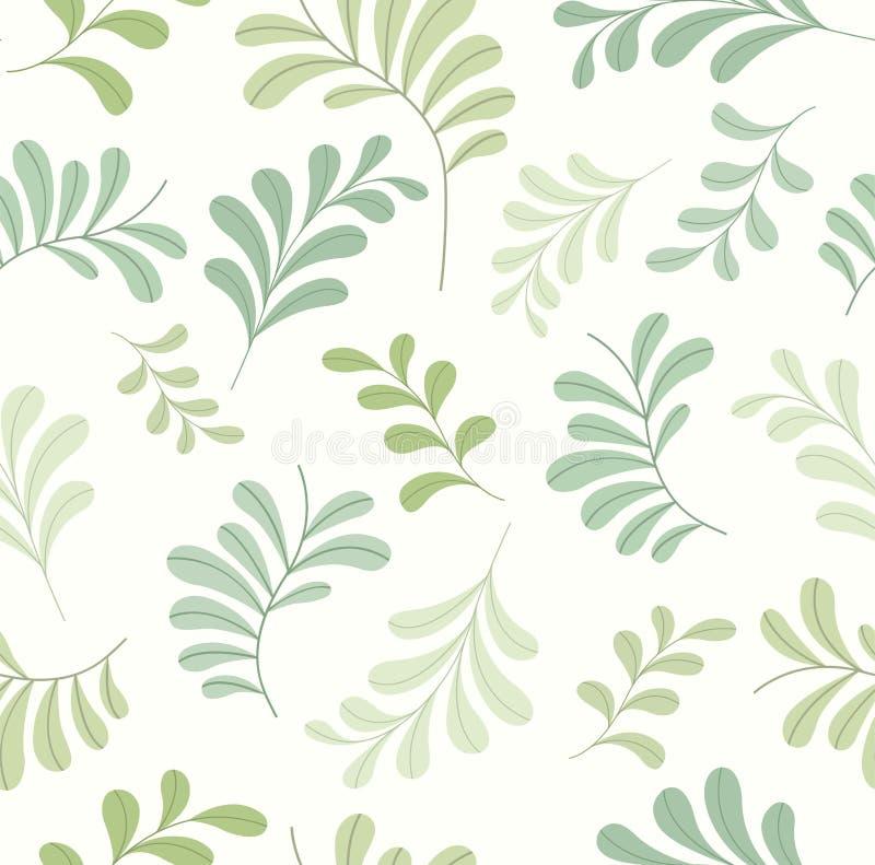 Милая флористическая стильная безшовная картина Предпосылка лист Doodle вектора Текстура орнамента ткани стоковая фотография