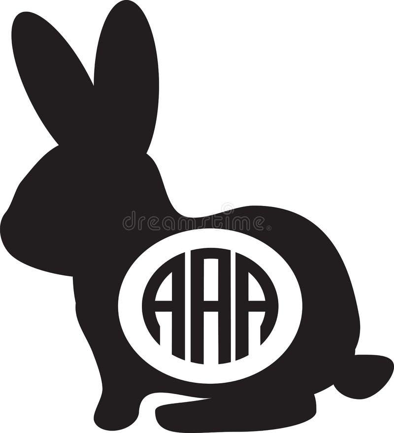Милая черно-белая иллюстрация вектора зайчика стоковое фото rf