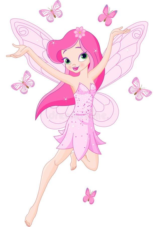 милая fairy розовая весна бесплатная иллюстрация