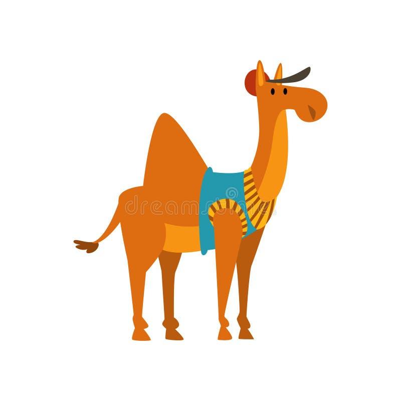 Милая Humanized иллюстрация вектора персонажа из мультфильма верблюда животная бесплатная иллюстрация