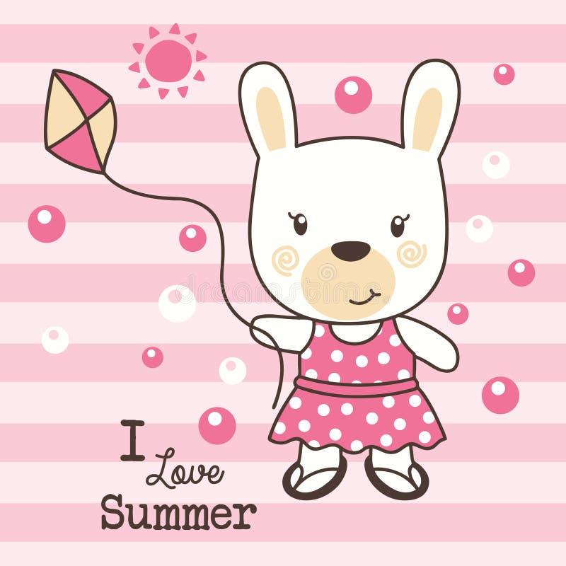 Милое лето влюбленности кролика стоковая фотография