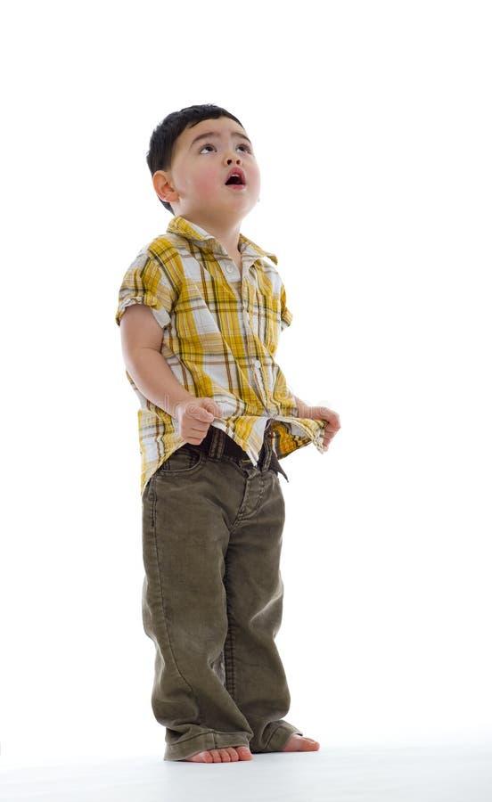 милое мальчика concerned стоковая фотография rf