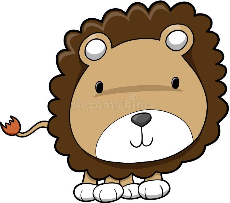 милое сафари льва иллюстрация штока