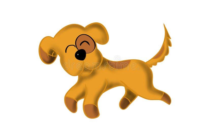 Милое счастье собаки иллюстрация вектора