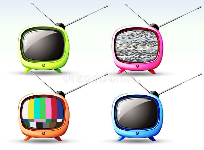 Милое телевидение иллюстрация штока