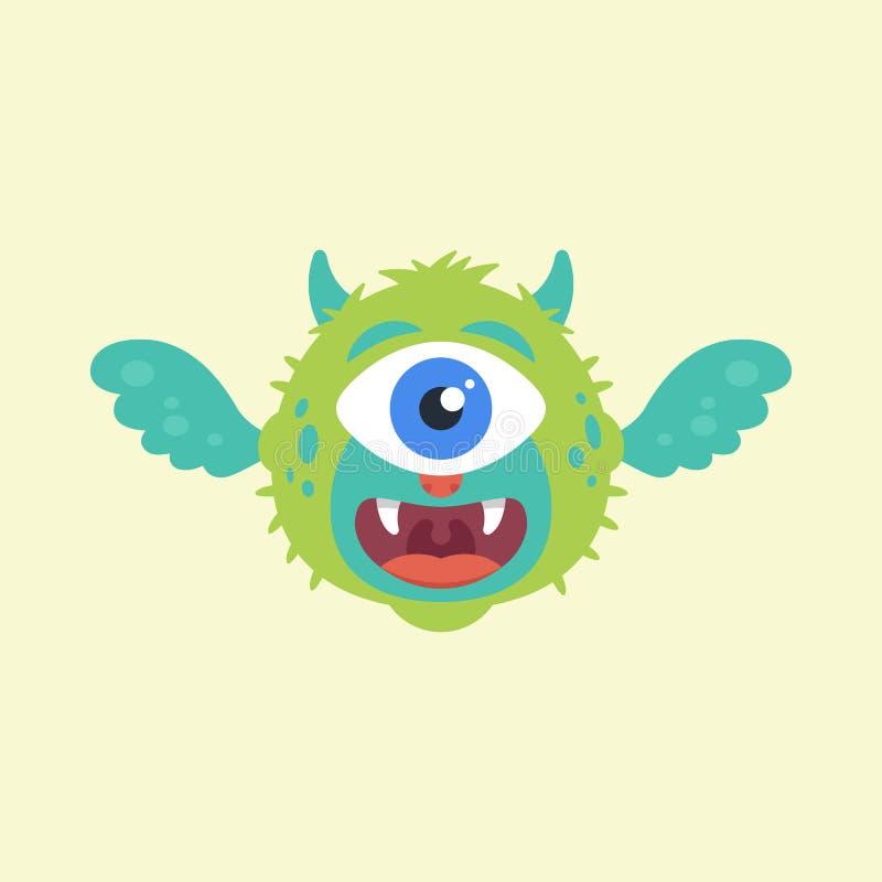 Милое чудовище летая иллюстрация штока