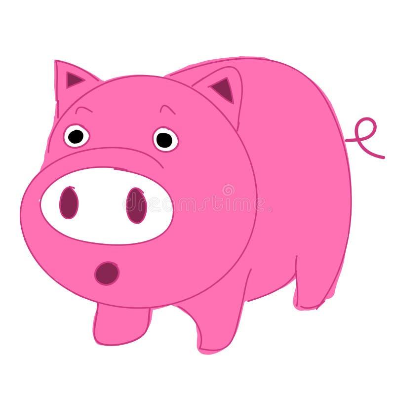 Мило, потехи и смешно свиньи шаржа иллюстрация вектора