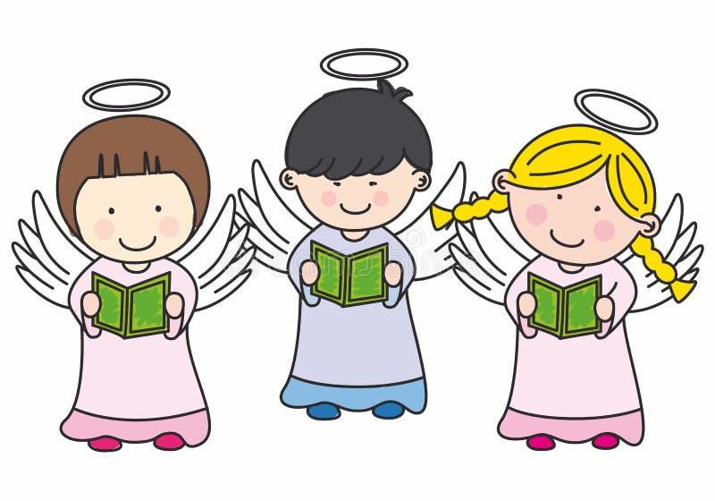 Милые ангелы бесплатная иллюстрация