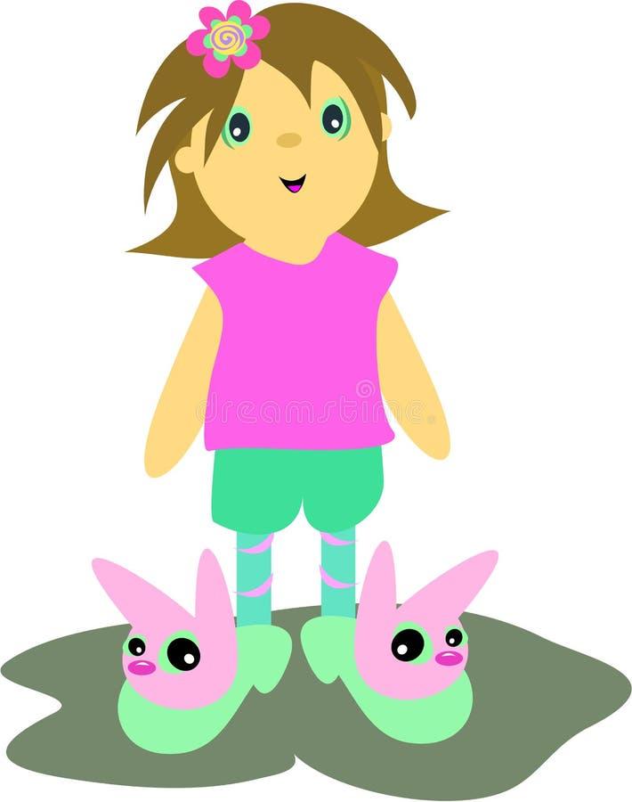 милые ботинки кролика девушки бесплатная иллюстрация