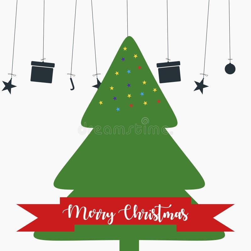 Милые веселого рождества предпосылка 2019 вектора бесплатная иллюстрация