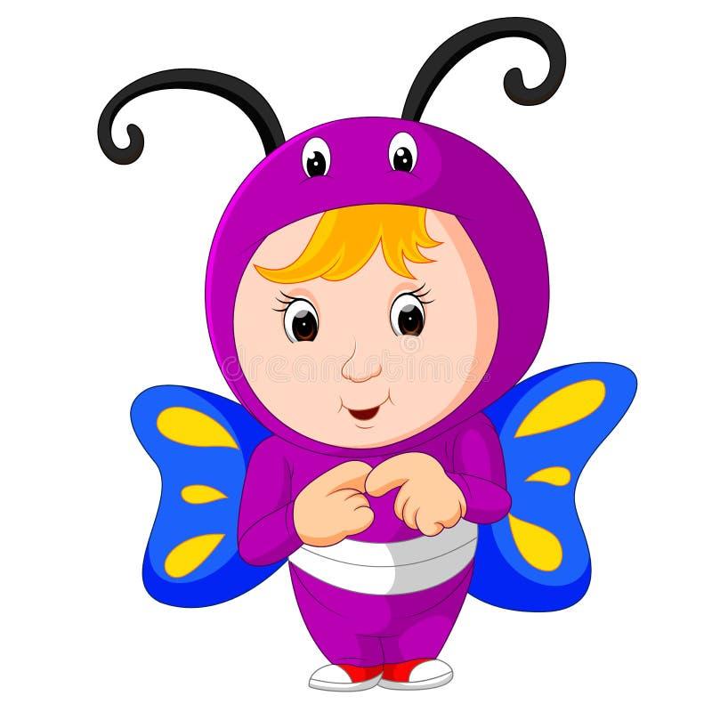 Милые дети нося животные костюмы бесплатная иллюстрация