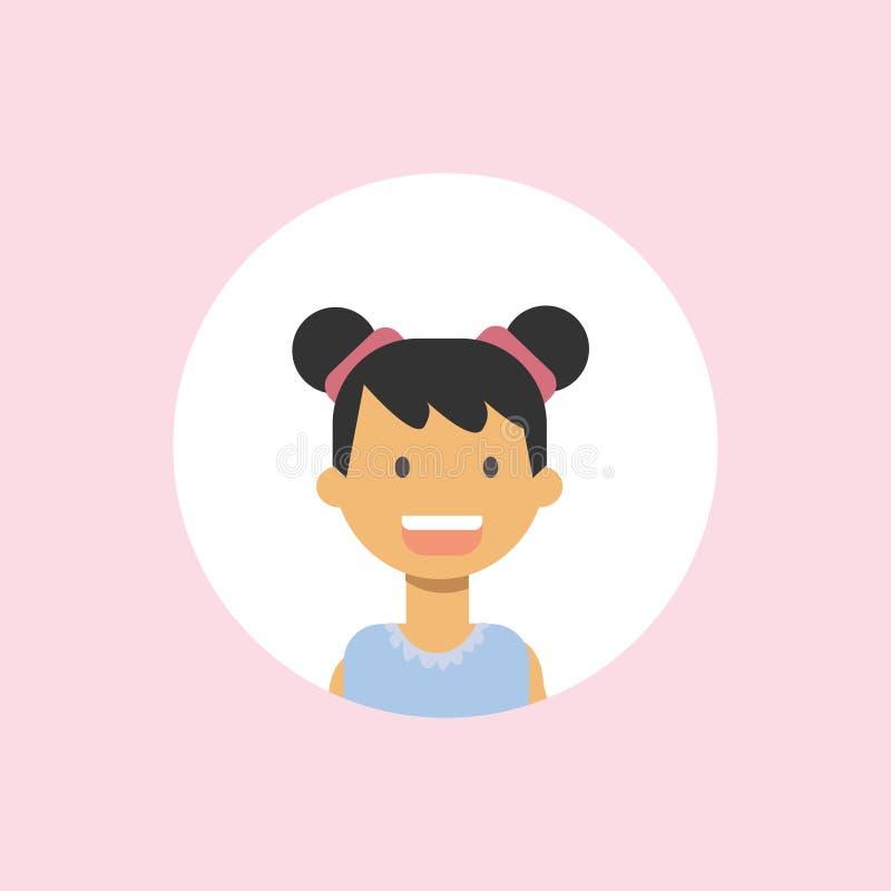 Милые дети смотрят на счастливый портрет девушки на розовой предпосылке, женской квартире воплощения иллюстрация штока