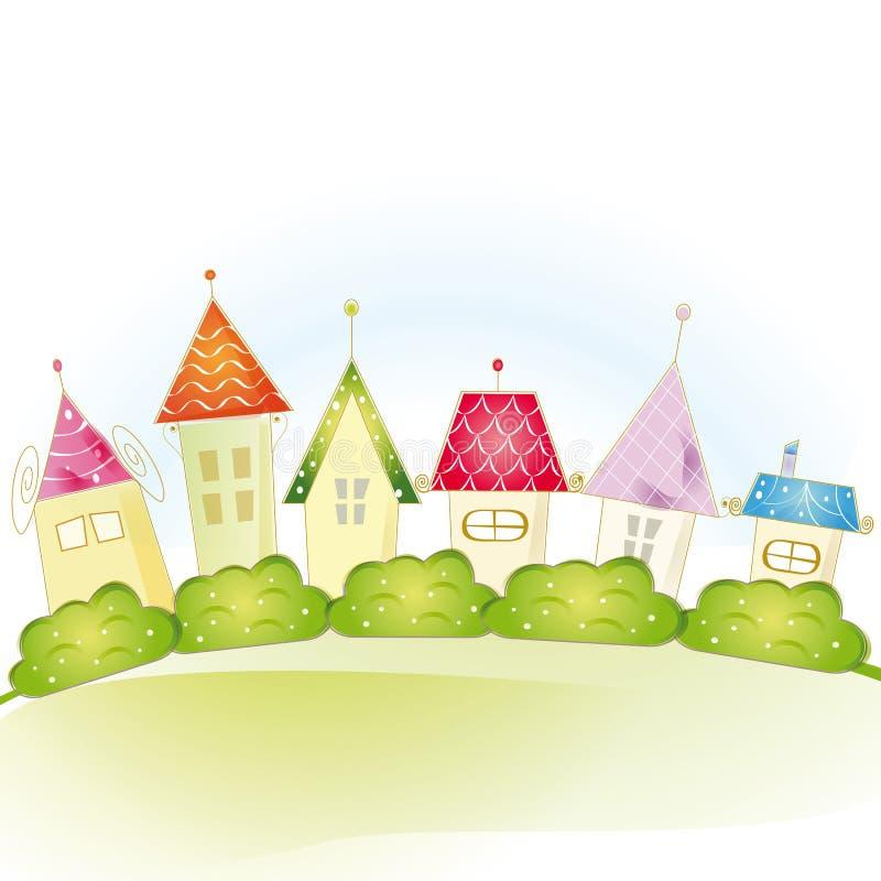 Милые дома иллюстрация вектора