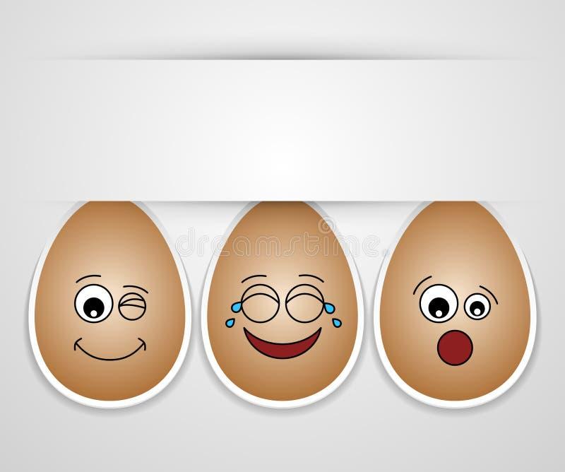 милые друзья пасхального яйца смешные иллюстрация штока