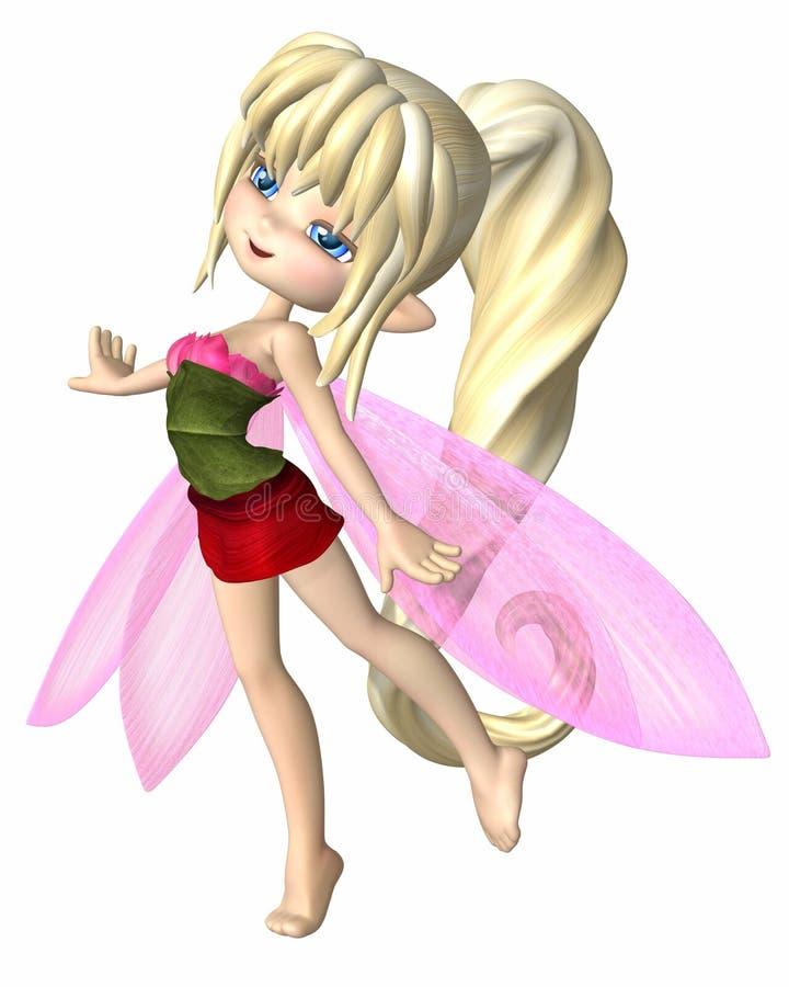 Милые лепестки лета Toon Fairy иллюстрация вектора