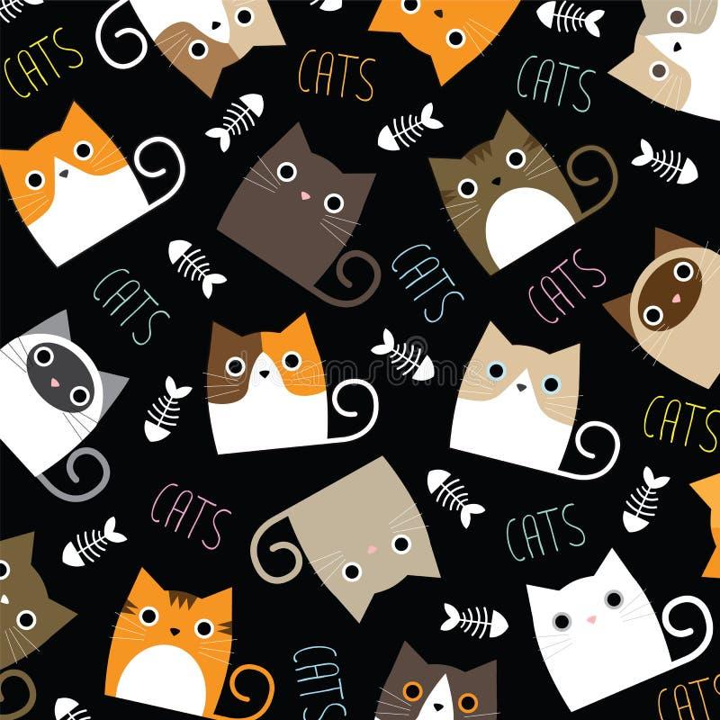 Милые обои котов бесплатная иллюстрация