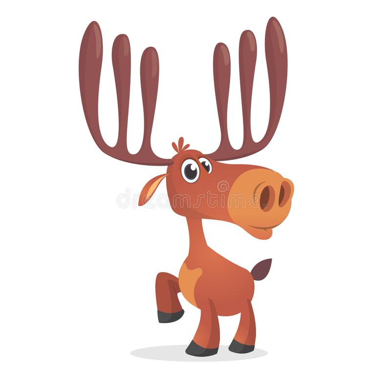 милые олени Леса стиля мультфильма характер шуточного животный Талисман северного оленя мужской бесплатная иллюстрация