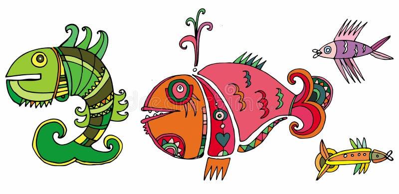 милые рыбы иллюстрация вектора