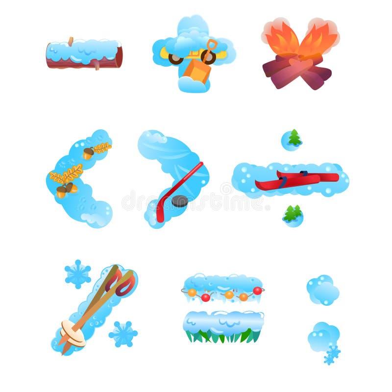 Милые символы математики зимы иллюстрация вектора