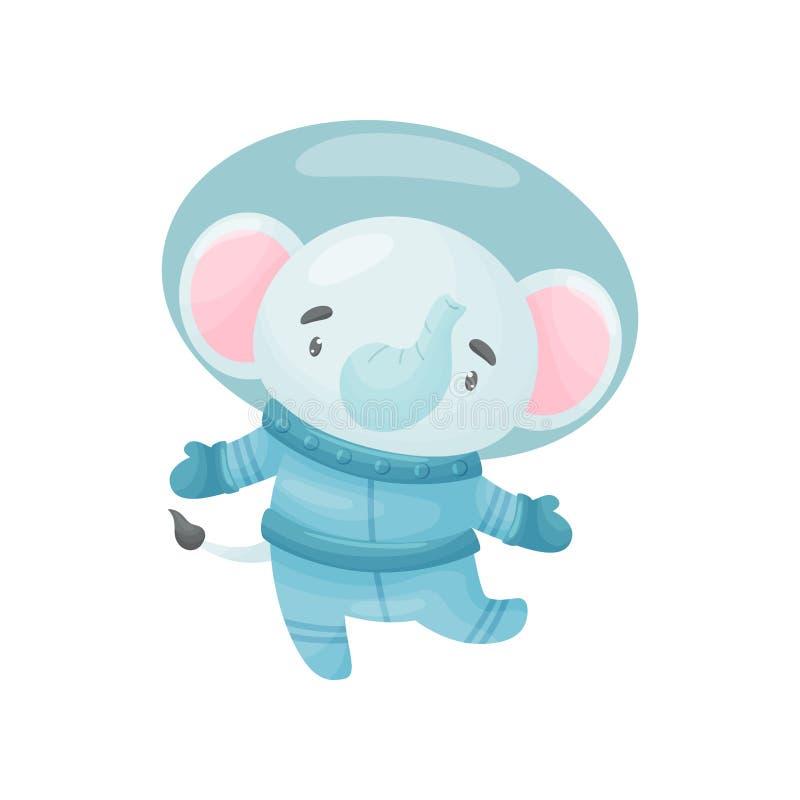Милый астронавт слона r иллюстрация вектора