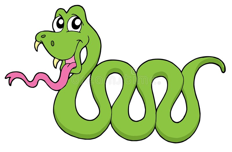 милый вектор змейки иллюстрации бесплатная иллюстрация