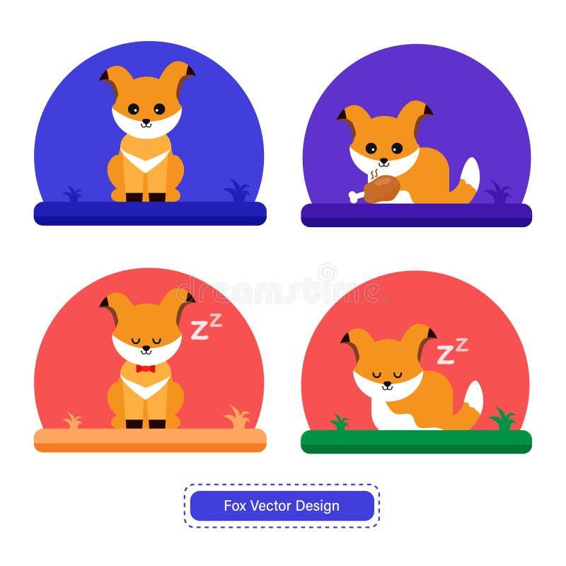 Милый вектор Fox для шаблонов значка или предпосылки представления бесплатная иллюстрация