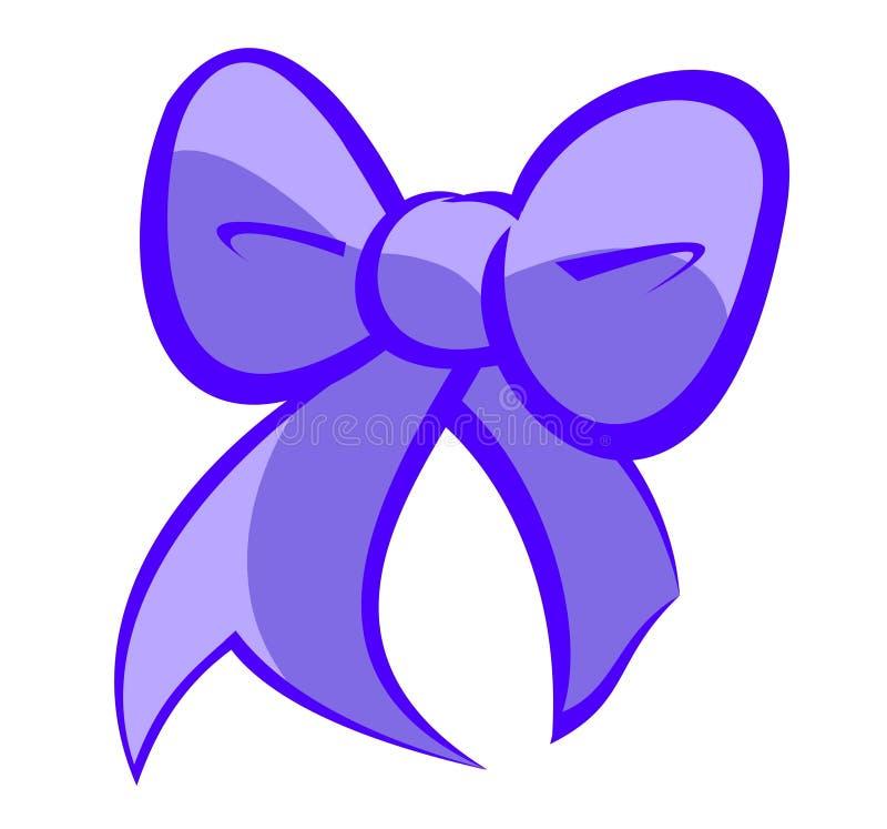 Милый голубой и светло-фиолетовый смычок иллюстрация вектора