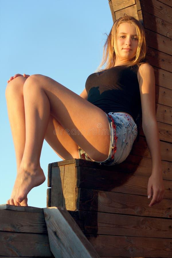 Милый девочка-подросток стоковое фото rf