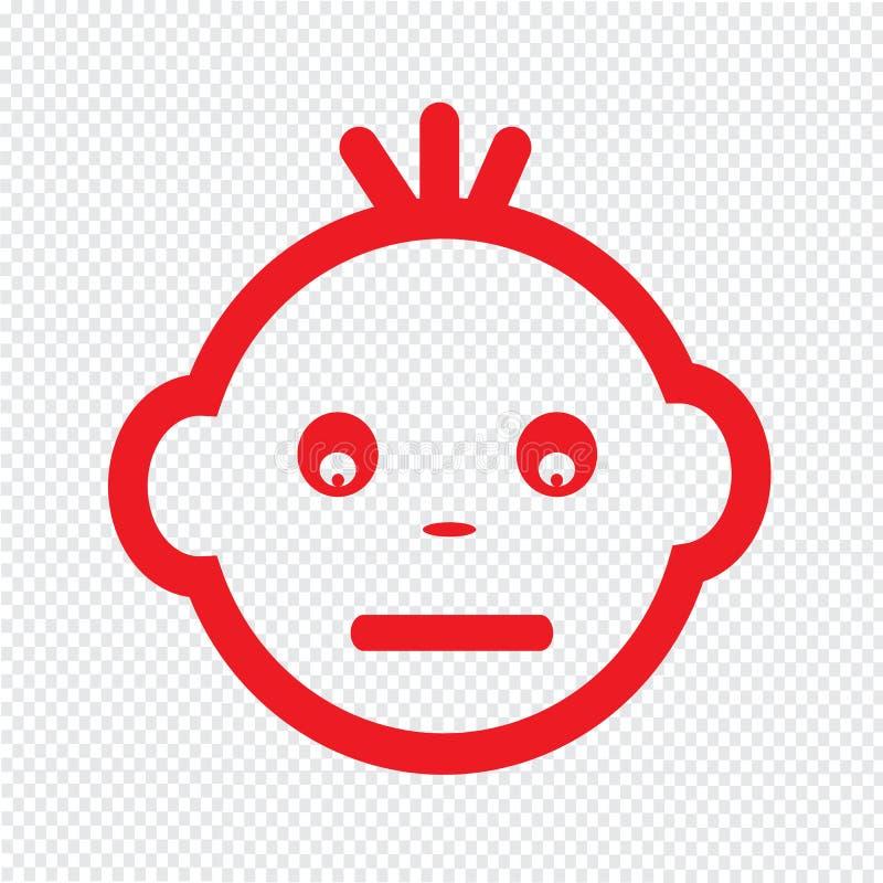 Милый дизайн символа иллюстрации значка эмоции стороны младенца иллюстрация вектора