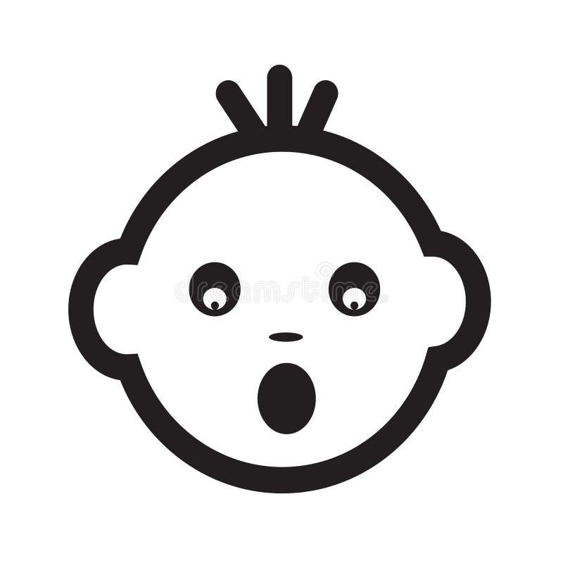Милый дизайн символа иллюстрации значка эмоции стороны младенца бесплатная иллюстрация